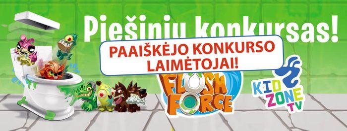 flush force piešinių konkursas
