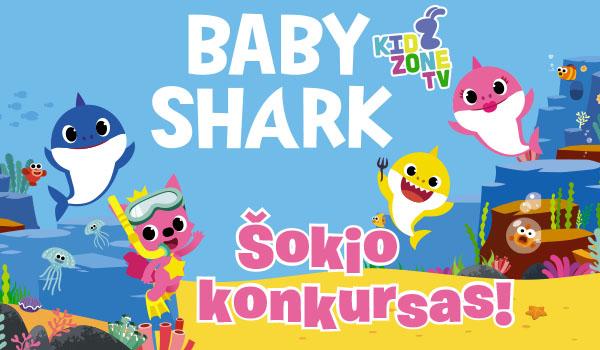 """Mažasis rykliukas kviečia pašokti! Nufilmuok savo """"Baby Shark"""" šokį ir vaizdo įrašą atsiųsk el. paštu: konkursai@xszaislai.lt Rugpjūčio 1 d. 5 laimėtojams dovanosime jų pasirinktus """"Baby Shark"""" herojus! Daugiau informacijos: xszaislai.lt ir facebook.com/xszaislai.lt/"""